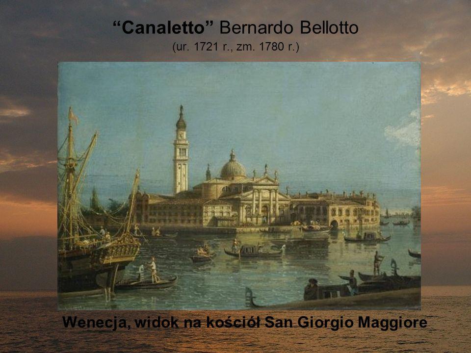 Canaletto Bernardo Bellotto (ur. 1721 r., zm. 1780 r.) Wenecja, widok na kościół San Giorgio Maggiore