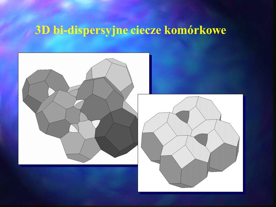 3D bi-dispersyjne ciecze komórkowe