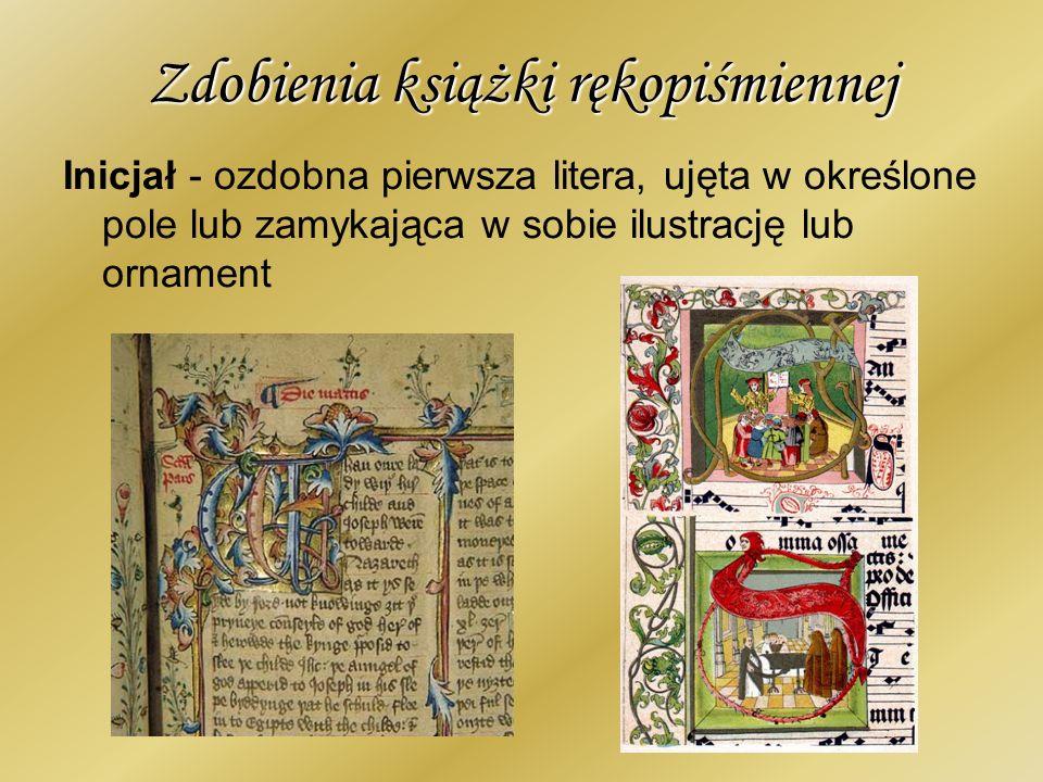 Zdobienia książki rękopiśmiennej Rubryka - zdanie lub litera w rękopisie wykonane czerwoną farbą w odróżnieniu od całości tekstu pisanego na czarno