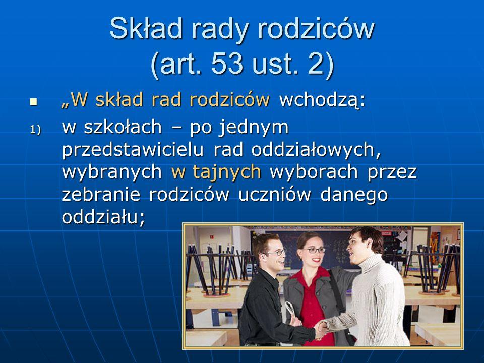 Kompetencje rady rodziców cd.Art. 54 ust. 4: Art.