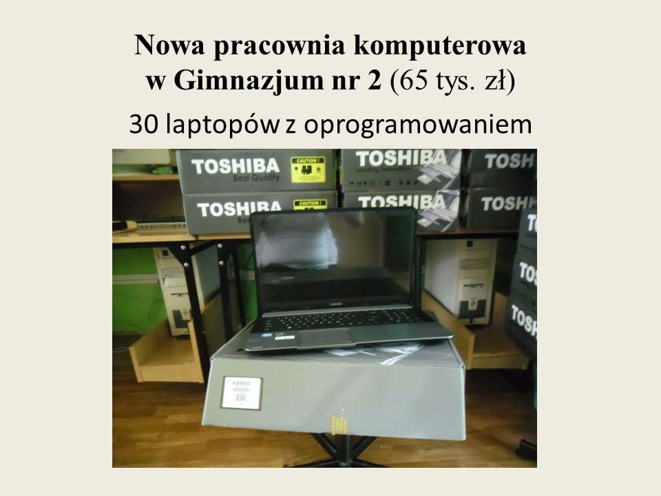 Nowa pracownia komputerowa w Gimnazjum nr 2 (65 tys. zł) 30 laptopów z oprogramowaniem