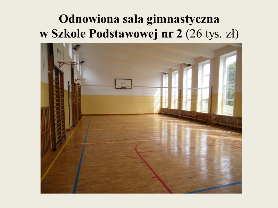 Odnowiona sala gimnastyczna w Szkole Podstawowej nr 2 (26 tys. zł)