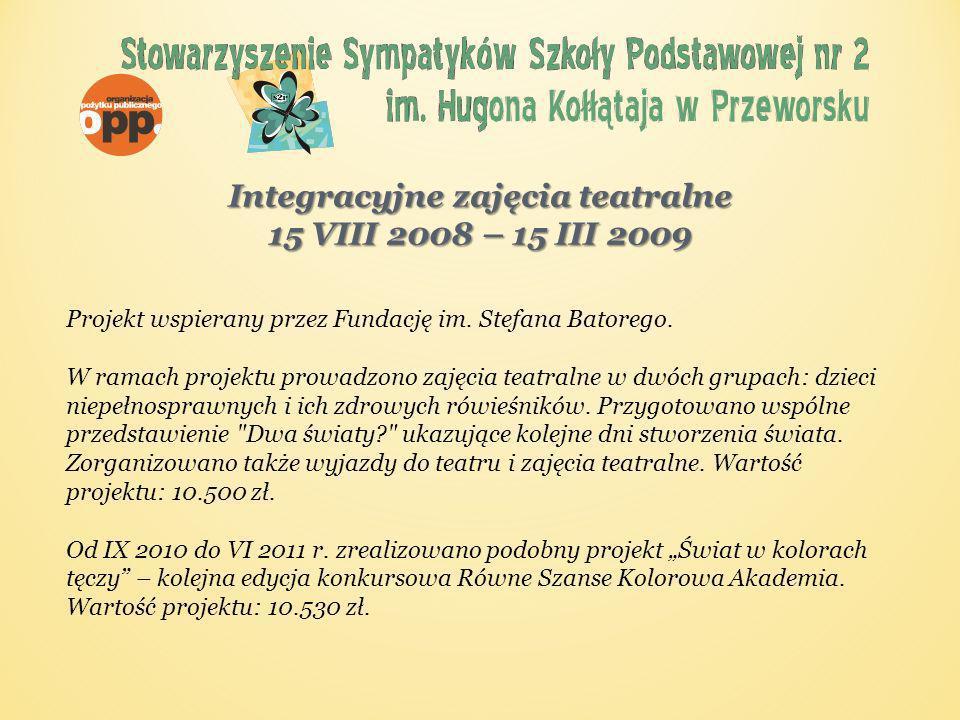 Mocniejsi dla dzieci 1VI – 31 X 2008 Projekt realizowany przy wsparciu udzielonym przez Islandię, Liechtenstein i Norwegię ze środków Mechanizmu Finansowego Europejskiego Obszaru Gospodarczego oraz Norweskiego Mechanizmu Finansowego oraz budżetu Rzeczypospolitej Polskiej w ramach Funduszu dla Organizacji Pozarządowych.
