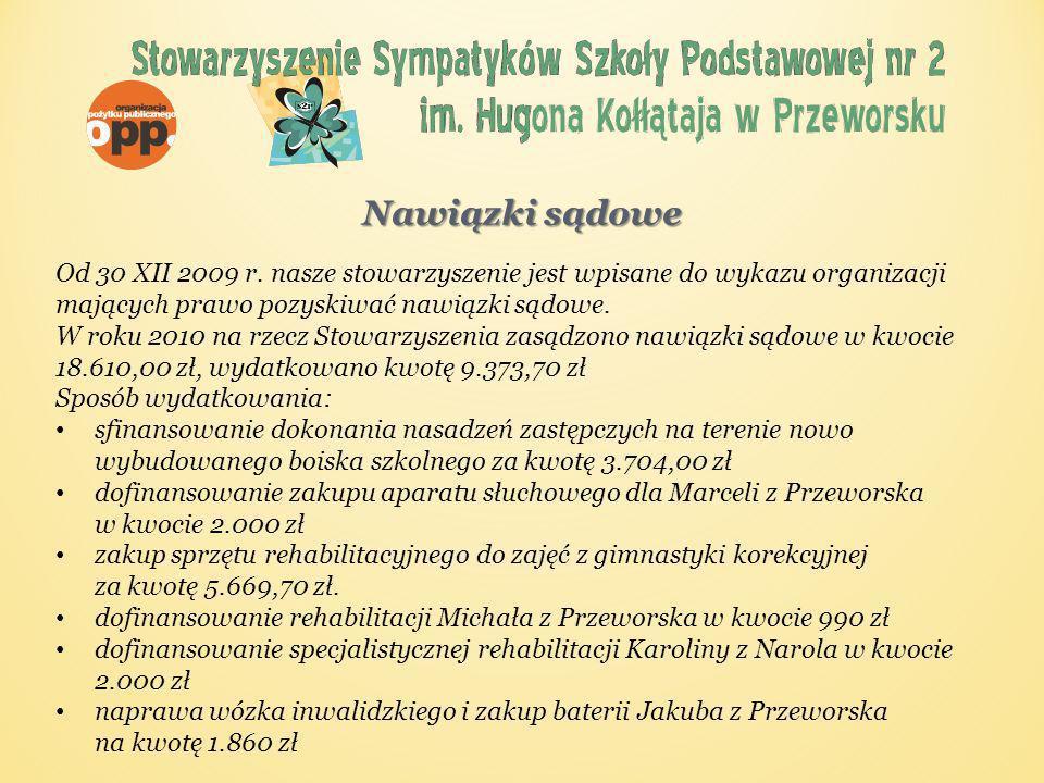 Nawiązki sądowe Od 30 XII 2009 r.