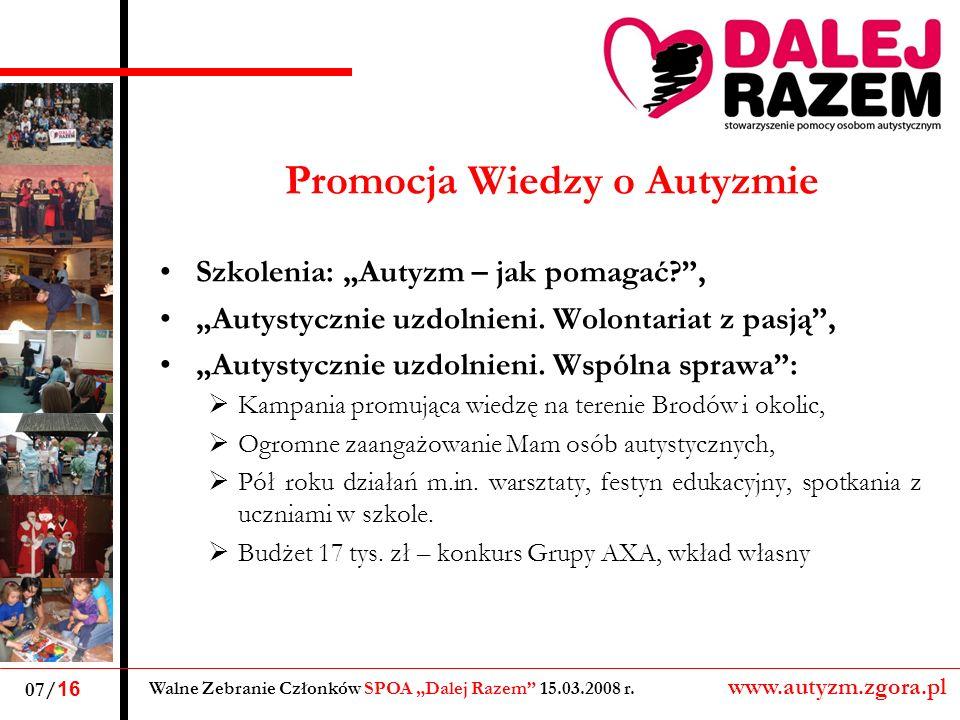 Promocja Wiedzy o Autyzmie Szkolenia: Autyzm – jak pomagać?, Autystycznie uzdolnieni.