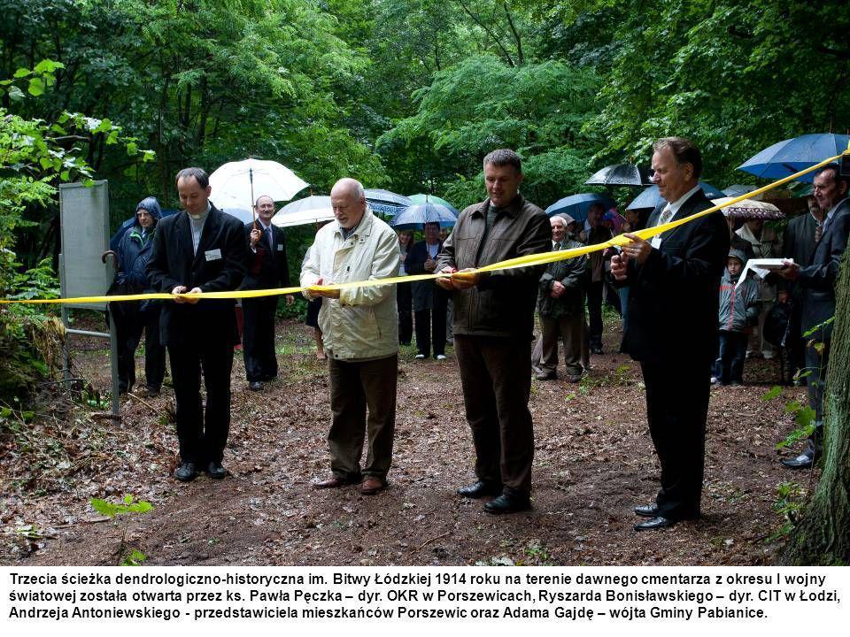 Trzecia ścieżka dendrologiczno-historyczna im. Bitwy Łódzkiej 1914 roku na terenie dawnego cmentarza z okresu I wojny światowej została otwarta przez