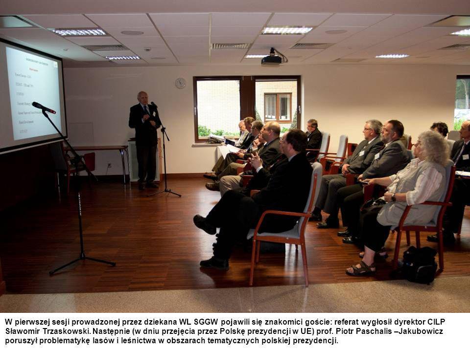 W pierwszej sesji prowadzonej przez dziekana WL SGGW pojawili się znakomici goście: referat wygłosił dyrektor CILP Sławomir Trzaskowski. Następnie (w