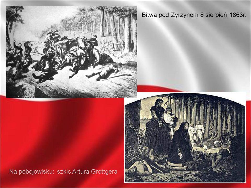 Bitwa pod Żyrzynem 8 sierpień 1863r. Na pobojowisku: szkic Artura Grottgera