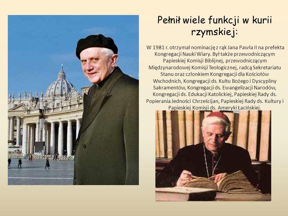 Pełnił wiele funkcji w kurii rzymskiej: W 1981 r. otrzymał nominację z rąk Jana Pawła II na prefekta Kongregacji Nauki Wiary. Był także przewodniczący