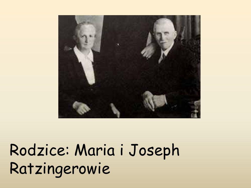Rodzice: Maria i Joseph Ratzingerowie