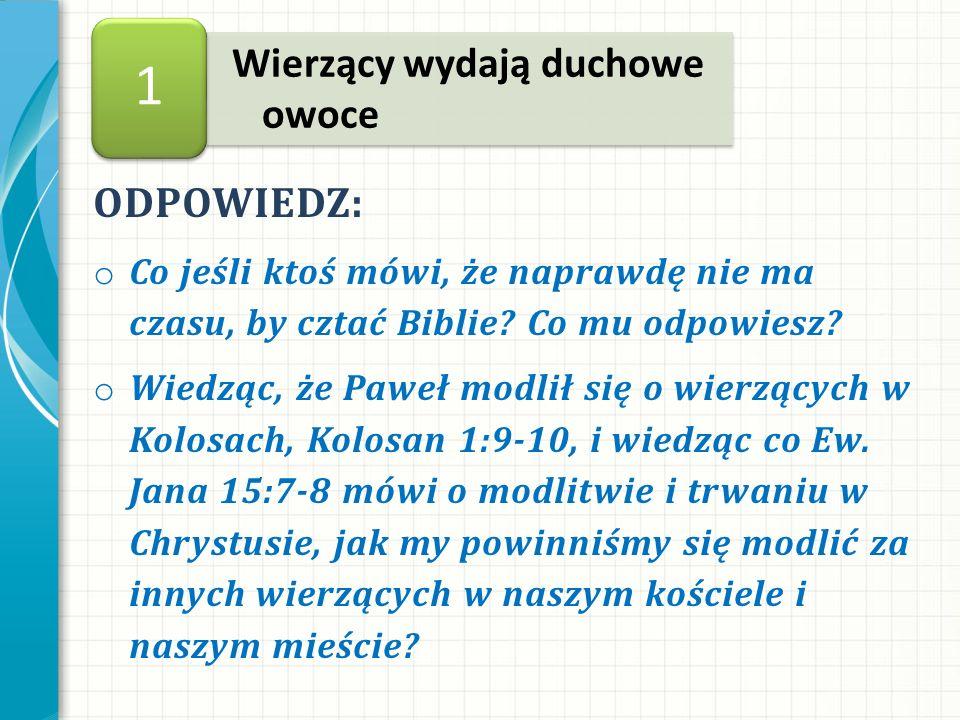 ODPOWIEDZ: o Co jeśli ktoś mówi, że naprawdę nie ma czasu, by cztać Biblie.