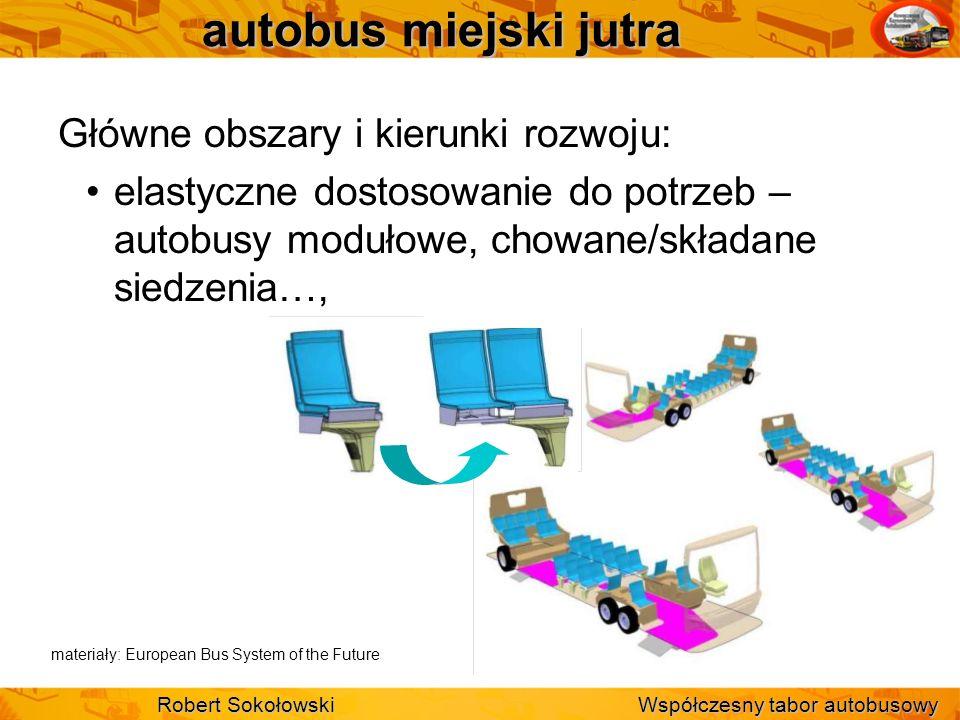 autobus miejski jutra Główne obszary i kierunki rozwoju: elastyczne dostosowanie do potrzeb – autobusy modułowe, chowane/składane siedzenia…, Robert S