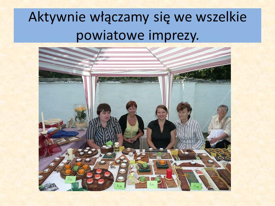 Aktywnie włączamy się we wszelkie powiatowe imprezy.