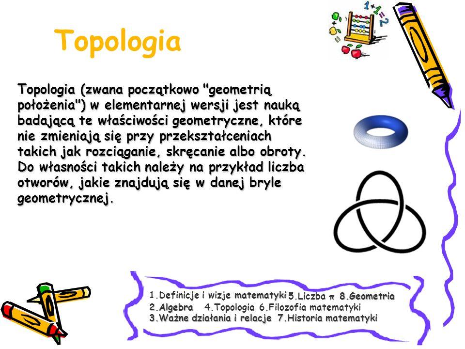 Topologia Topologia (zwana początkowo