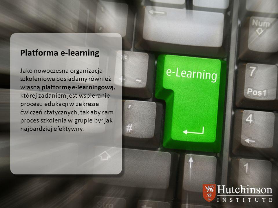 Platforma e-learning Jako nowoczesna organizacja szkoleniowa posiadamy również własną platformę e-learningową, której zadaniem jest wspieranie procesu
