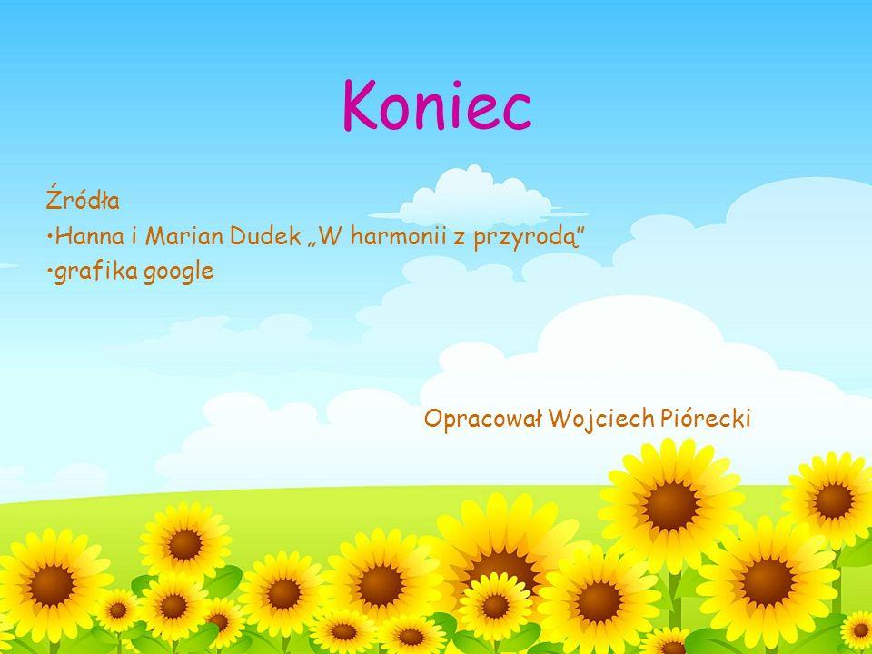 Koniec Źródła Hanna i Marian Dudek W harmonii z przyrodą grafika google Opracował Wojciech Piórecki
