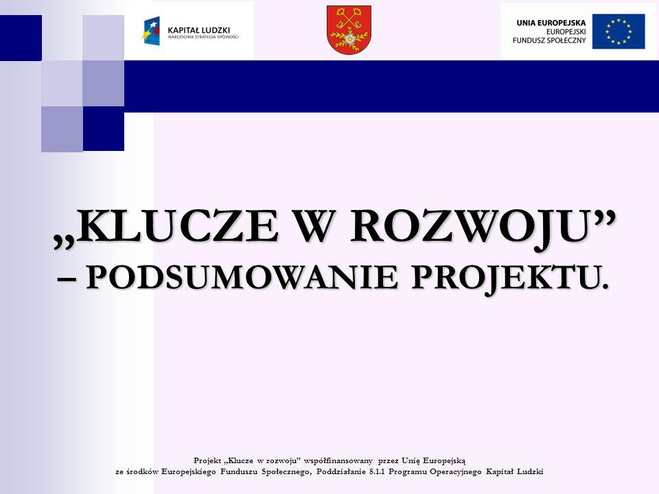 KLUCZE W ROZWOJU Wniosek o dofinansowanie projektu pn.