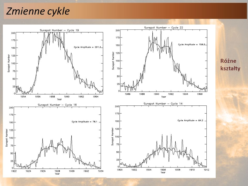 Zmienne cykle Różne kształty
