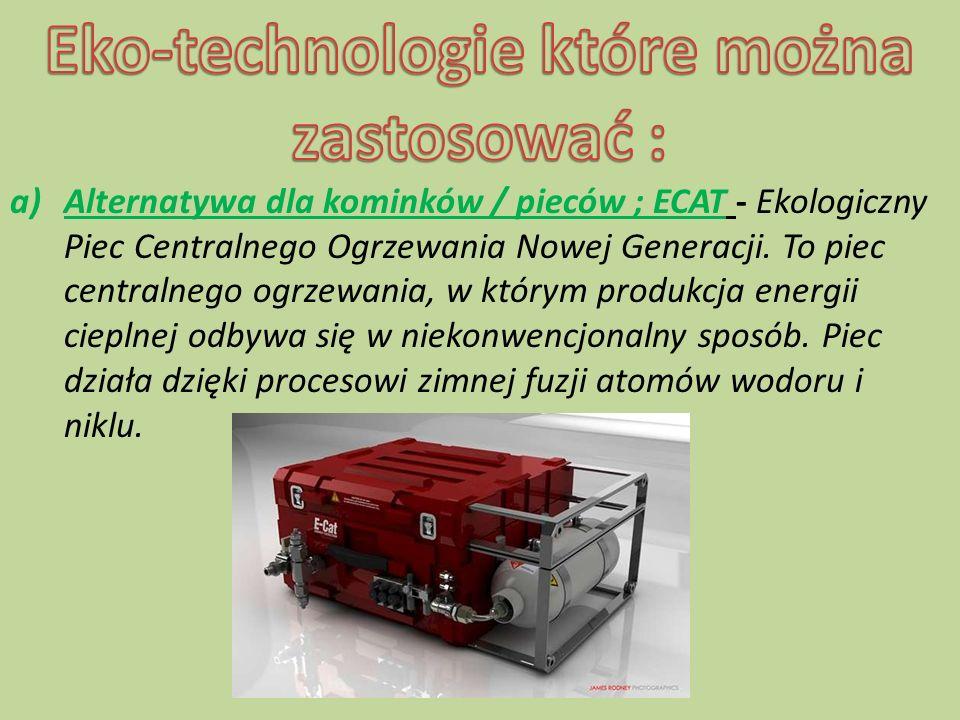 ECAT produkuje energię w ekologiczny, przyjazny dla środowiska naturalnego sposób.