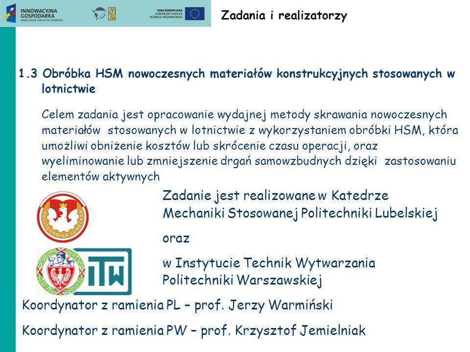 ZB1.3 Politechnika Lubelska Wskaźniki (cd) Prace inżynierskie obronione Przemysław Zdeb: Wpływ prędkości posuwowej na wartość siły skrawania podczas frezowania kompozytu w włóknem węglowym.