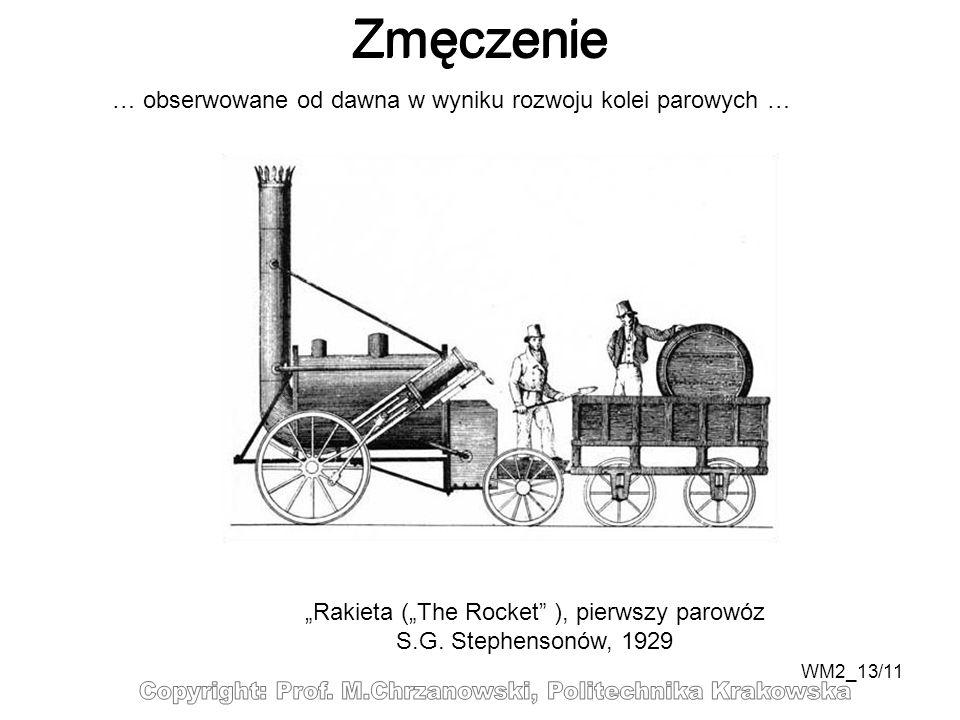 WM2_13/11 … obserwowane od dawna w wyniku rozwoju kolei parowych … Rakieta (The Rocket ), pierwszy parowóz S.G. Stephensonów, 1929 Zmęczenie