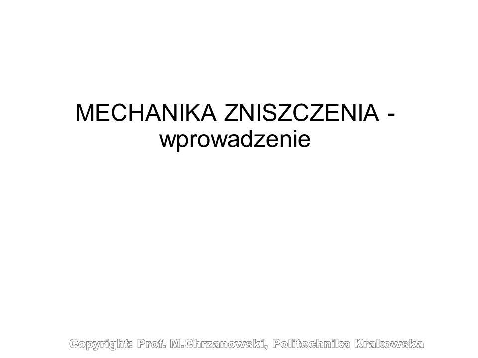 WM2_13/13 Pękanie A.Wöhler (1819-1914) Maszyna Wöhlera do badań zmęczeniowych Wykres Wöhlera dla zmęczenia wysoko-cyklicznego Granica zmęczenia