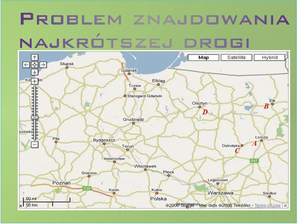 Tworzymy graf, którego wierzchołki odpowiadają miastom znajdującym się na danej mapie.