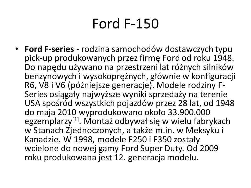 Ford F-series - rodzina samochodów dostawczych typu pick-up produkowanych przez firmę Ford od roku 1948.