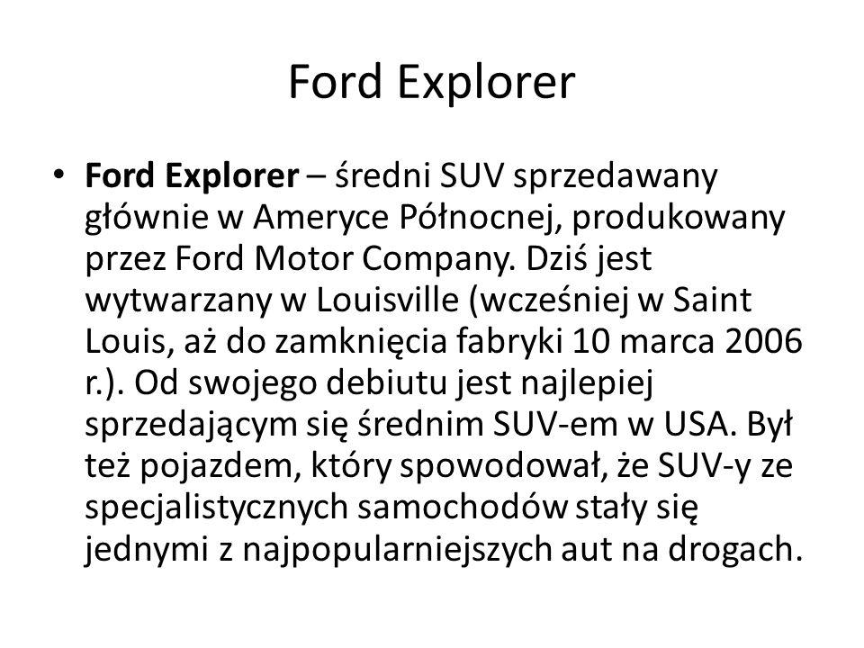 Ford Explorer – średni SUV sprzedawany głównie w Ameryce Północnej, produkowany przez Ford Motor Company.
