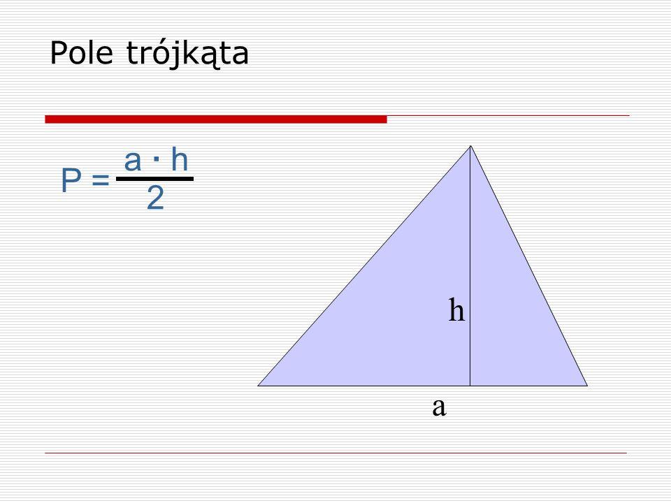 b a h P = (a + b) · h 2 Pole trapezu