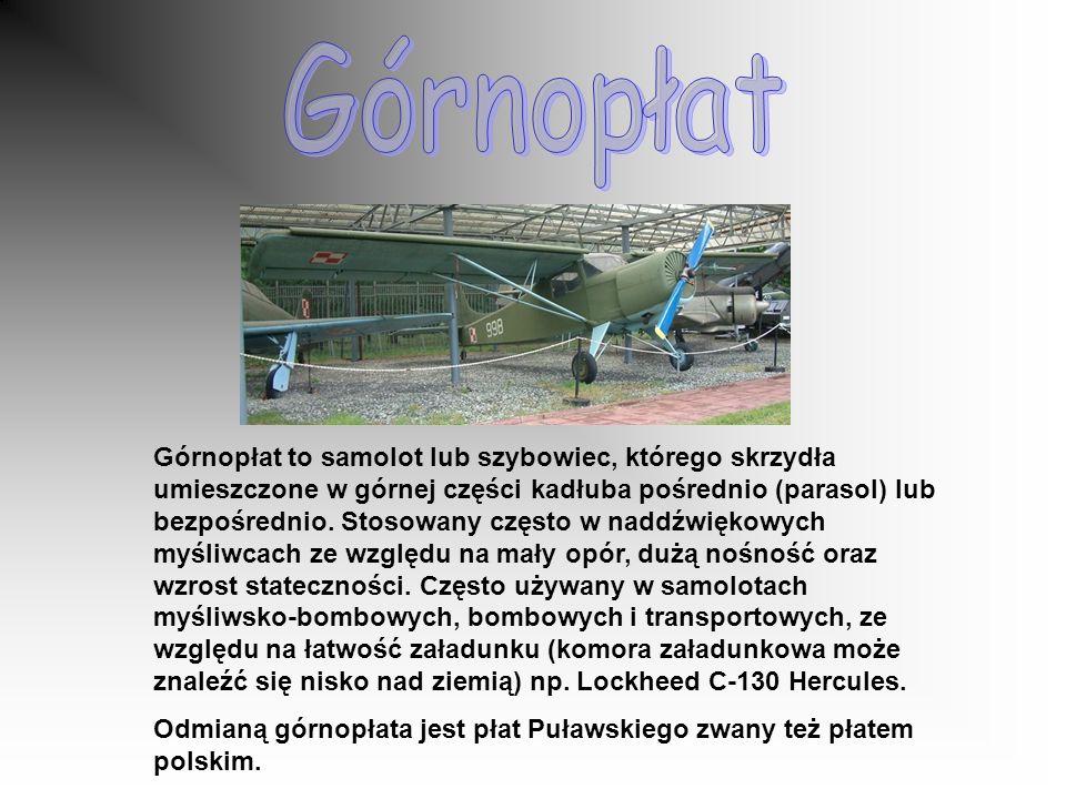 Górnopłat to samolot lub szybowiec, którego skrzydła umieszczone w górnej części kadłuba pośrednio (parasol) lub bezpośrednio.