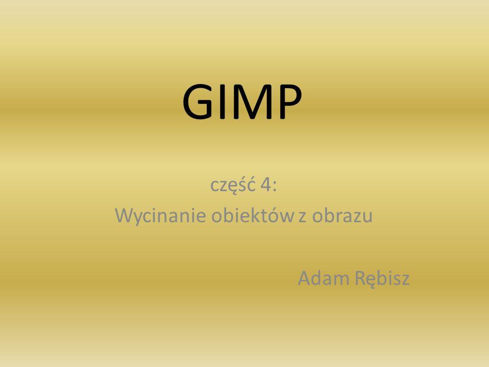 GIMP część 4: Wycinanie obiektów z obrazu Adam Rębisz