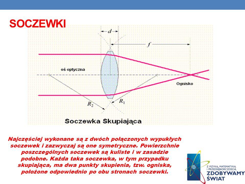 Najczęściej wykonane są z dwóch połączonych wypukłych soczewek i zazwyczaj są one symetryczne.