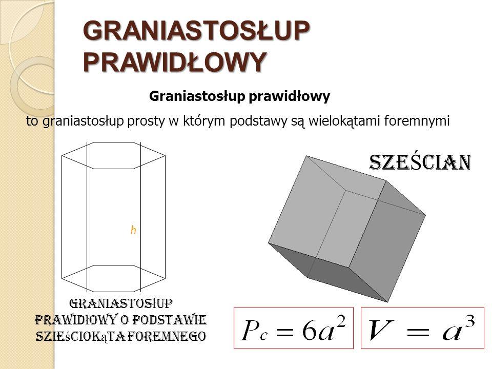 OSTROSŁUP Ostrosłupem nazywamy wielościan, którego jedna ściana (zwana podstawą), jest dowolnym wielokątem, a pozostałe ściany, zwane bocznymi, są trójkątami o wspólnym wierzchołku.