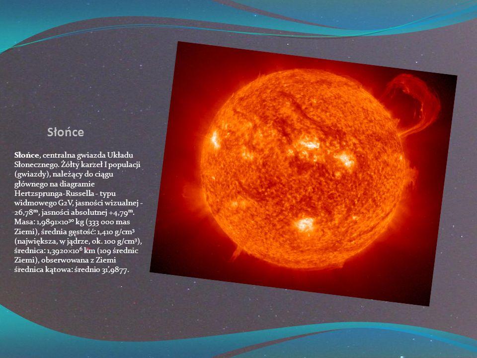 Słońce Słońce, centralna gwiazda Układu Słonecznego.