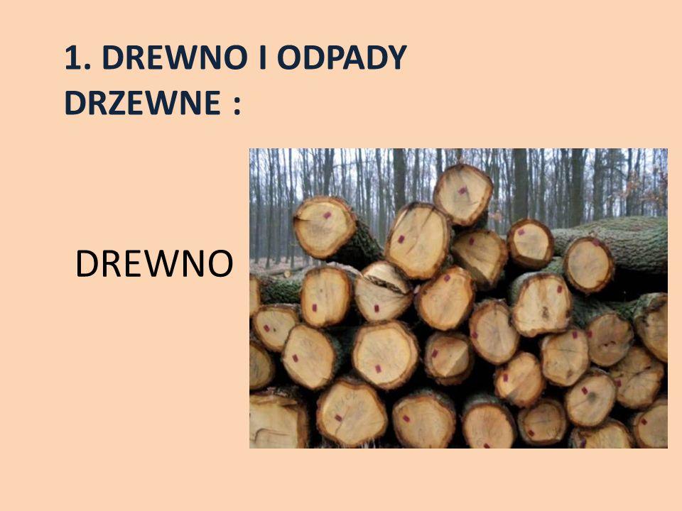 1. DREWNO I ODPADY DRZEWNE : DREWNO