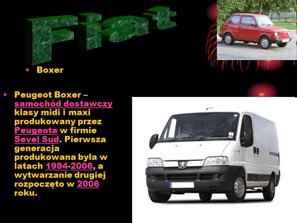 Boxer Peugeot Boxer – samochód dostawczy klasy midi i maxi produkowany przez Peugeota w firmie Sevel Sud.
