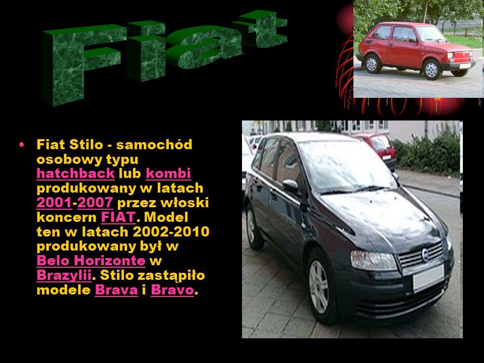 Fiat Stilo - samochód osobowy typu hatchback lub kombi produkowany w latach 2001-2007 przez włoski koncern FIAT.