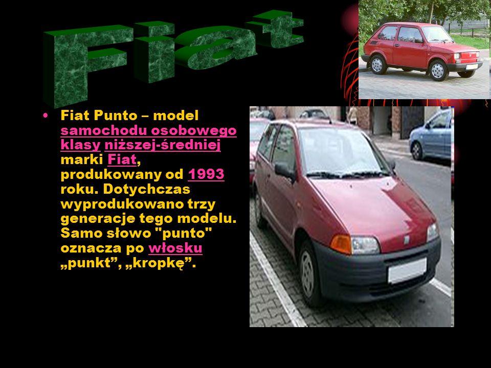 Fiat Punto – model samochodu osobowego klasy niższej-średniej marki Fiat, produkowany od 1993 roku.