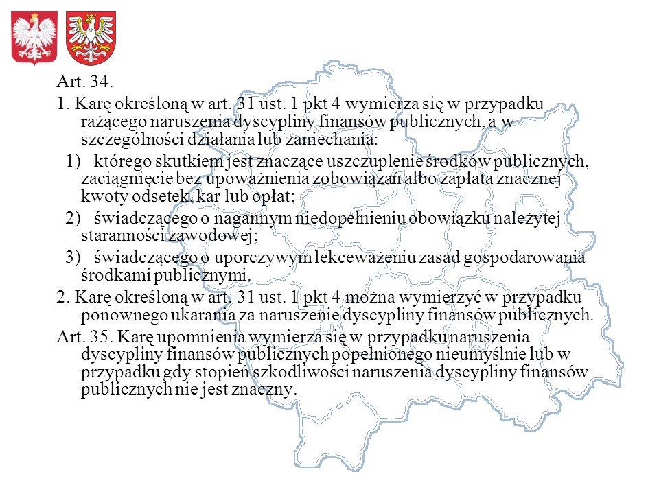 Art. 34. 1. Karę określoną w art. 31 ust.