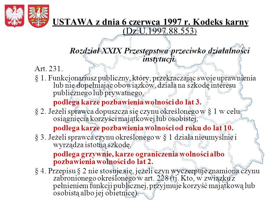 USTAWA z dnia 6 czerwca 1997 r.