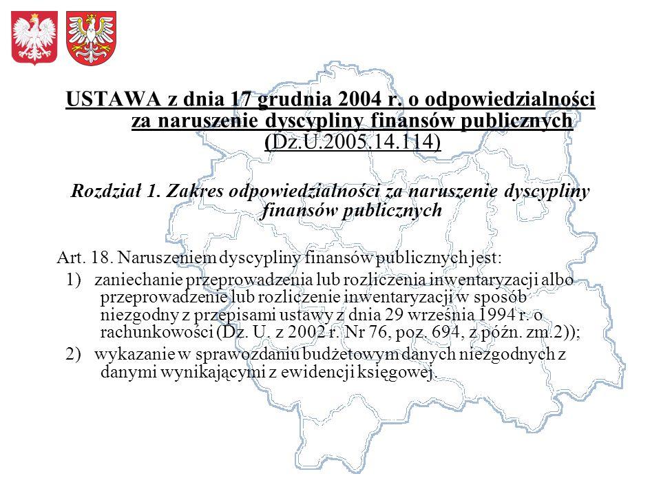 Rozdział 2.Zasady odpowiedzialności za naruszenie dyscypliny finansów publicznych Art.
