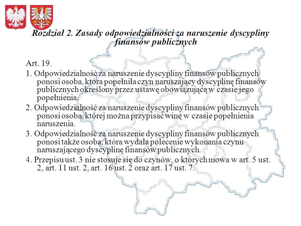 Rozdział 2. Zasady odpowiedzialności za naruszenie dyscypliny finansów publicznych Art.
