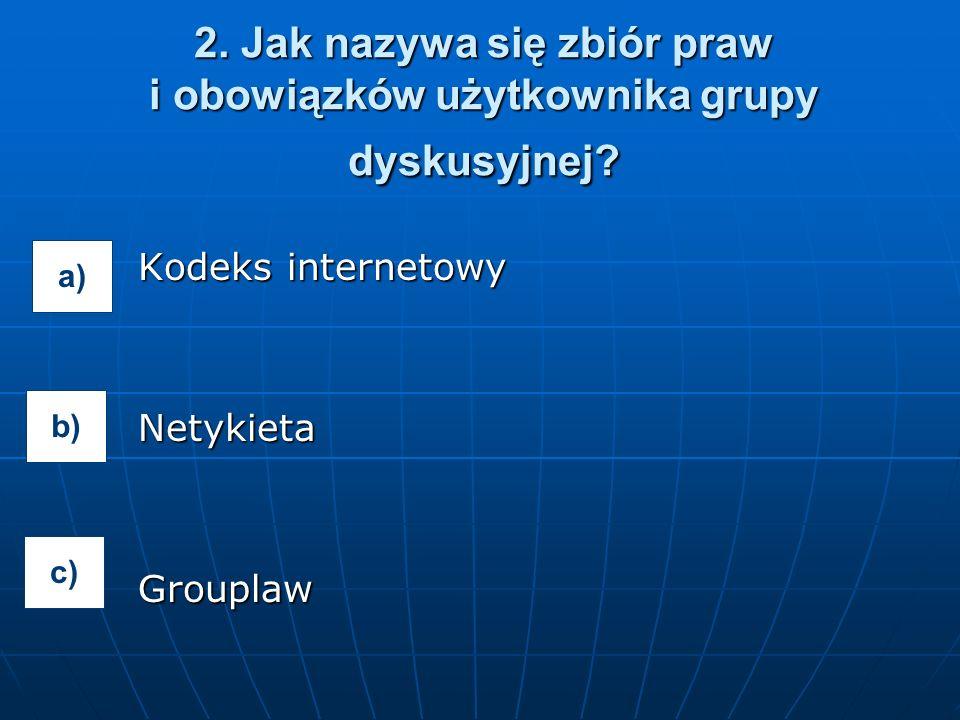 Kodeks internetowy NetykietaGrouplaw 2.