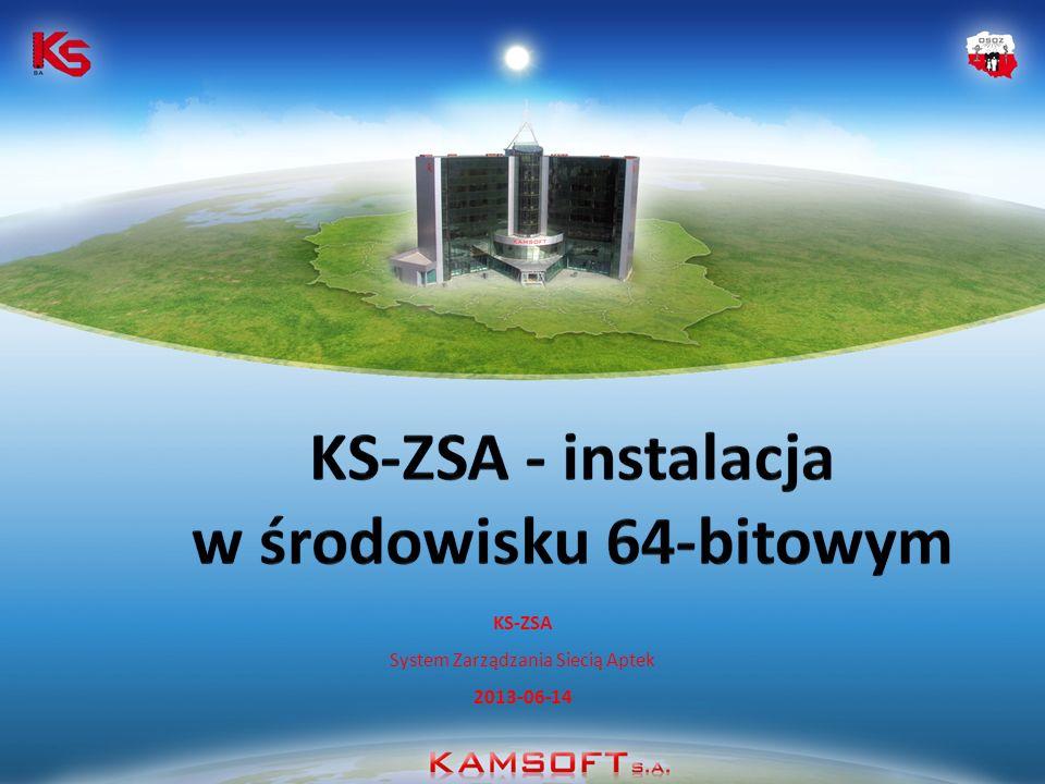 KS-ZSA System Zarządzania Siecią Aptek 2013-06-14