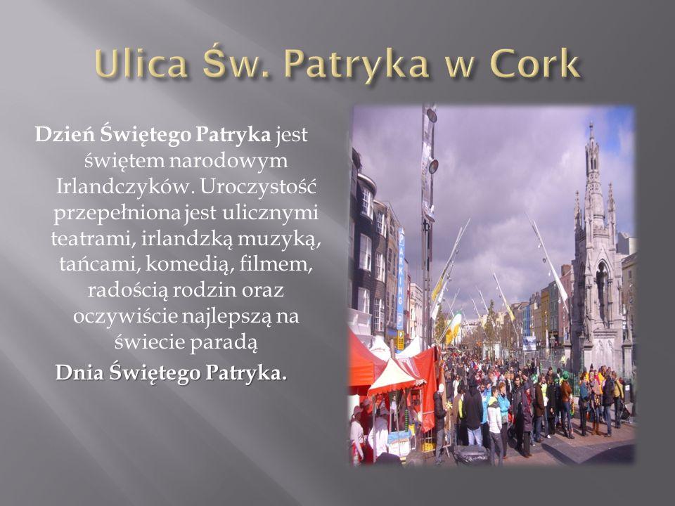 Dzień Świętego Patryka jest świętem narodowym Irlandczyków. Uroczystość przepełniona jest ulicznymi teatrami, irlandzką muzyką, tańcami, komedią, film