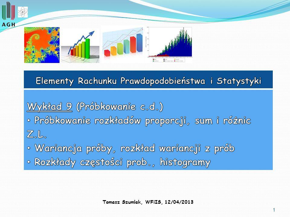 2 Przypomnienie Jednym z fundamentalnych zastosowań statystyki jest szacowanie parametrów populacji, które opisane są odpowiednimi R.G.P.