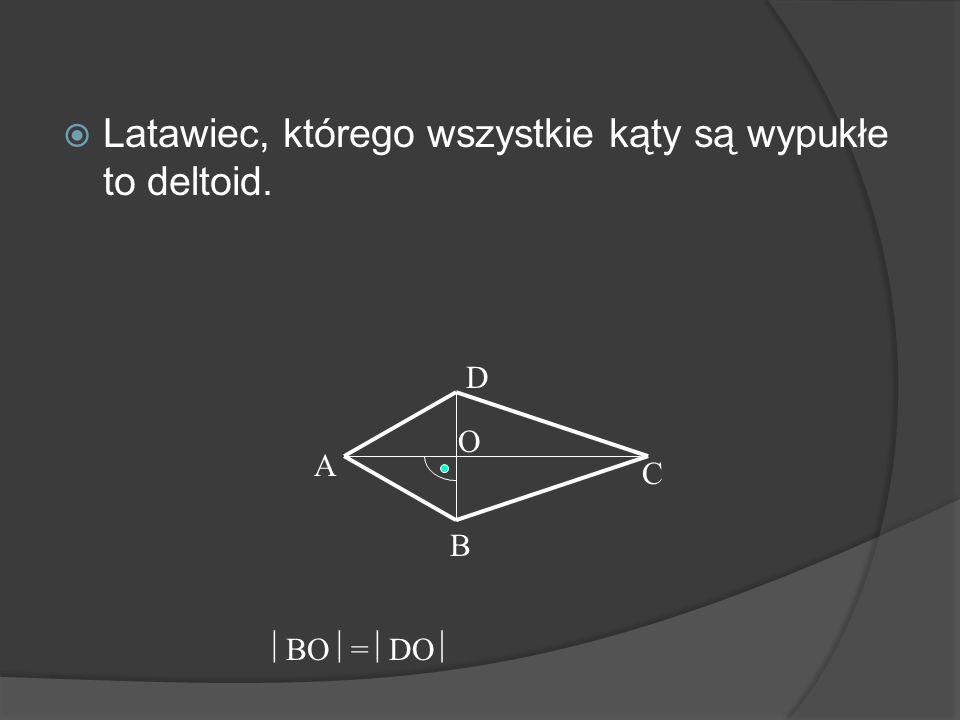 Latawce mają jedną oś symetrii. A B C D A BD C