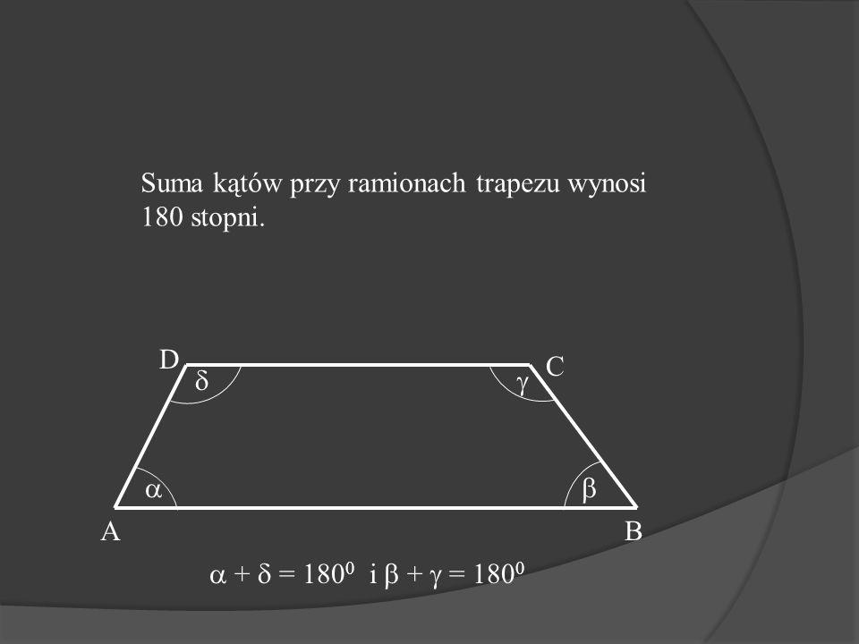 Trapez Jedna para boków(podstawy) są równoległe. AB C D AB CD