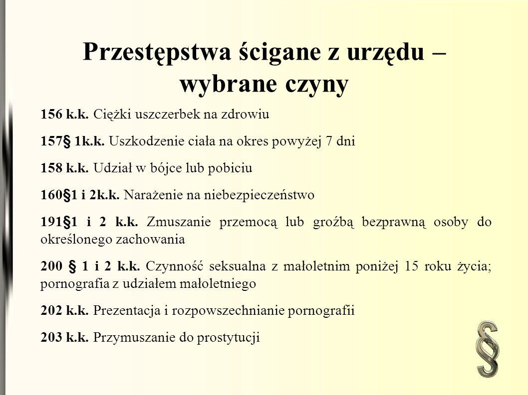 Przest ę pstwa ś cigane z urz ę du – wybrane czyny 204 k.k.